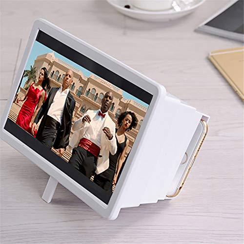 TWWYJGC Nuevo Teléfono Móvil 3D Lupa para Viaje Pantalla Portátil Lupa 8.2 Pulgadas Pantalla del Teléfono Amplificador De Pantalla De Lupa Universal