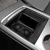 BASENOR 2021 Tesla Model Y Model 3 Center Console Organizer Tray Mittelkonsole Accessoies mit Sonnenbrillenhalter