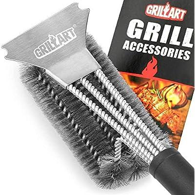 GRILLART Grill Brush and Scraper Best BBQ Brush...