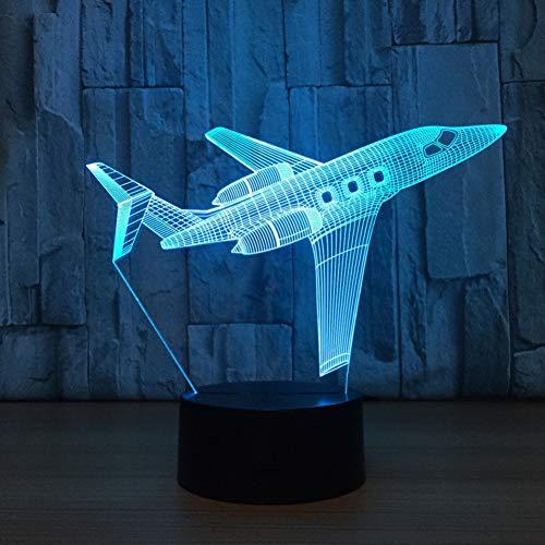 LLZGPZXYD privé vliegtuig USB - bureaulamp 3D - lamp licht LED 7 kleuren veranderende 3D - nachtlicht remote touch switct baby - tafellamp Touch And Remote