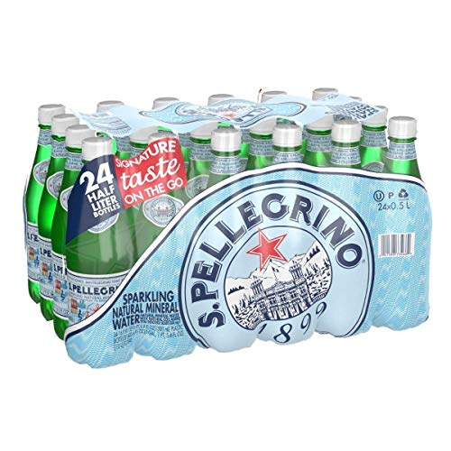 S.Pellegrino Sparkling Natural Mineral Water, 24 Count 16.9 fl oz. Plastic Bottles (Pack of 2)