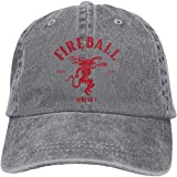 Gsdgjgg Fireball Cinnamon Whisky Classic Casquette Baseball-Caps Gray Cotton Adjustable Unisex Hat Gift,One Size