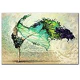 LYQSCL Leinwanddrucke,Kreative Schönen Grünen Kleid