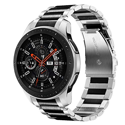 V-MORO Galaxy Watch 46mm Armband Gear S3 Frontier/Gear S3 Classic Armband,22mm Keine Lücke Solider Edelstahl Metall Ersatz Bracelet Strap Band Uhrenarmband Kompatibel mit Samsung Galaxy Watch 46mm