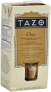 Tazo Chai, Spiced Black Tea Latte Concentrate, 32-Ounce Containers (Pack of 6)