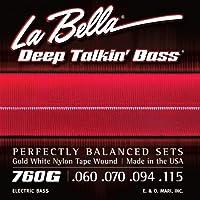 LA BELLA (ラベラ) ベース弦 760G Gold White Nylon Tape, Standard 60-115