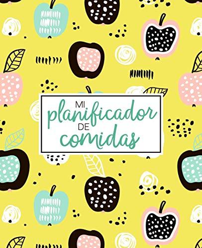 Mi planificador de comidas: Organiza, registra y planifica tus comidas semanales: Un calendario, registro y diario de comidas de 52 semanas que te ... la compra: Cubierta de frutas abstractas 2278