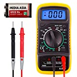 XL830L Pocket Digital Multimeter Mini Voltage Tester Home Measuring Tools Multi-Tester Test AC/DC Current, Resistance, Continuity, Frequency Backlight LCD Display With Battery