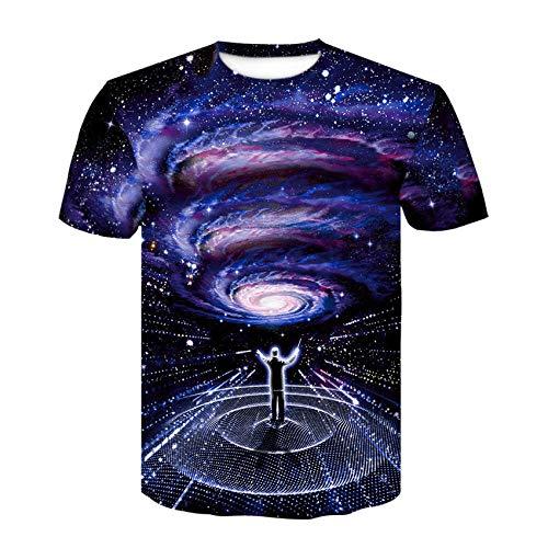 yyqx container Men's 3D Digitale Gedrukte Zomer Korte mouw Command Galaxy T-Shirt Man 3DT Shirt Korte mouw Ronde hals Digitale afdrukken Casual Korte mouw