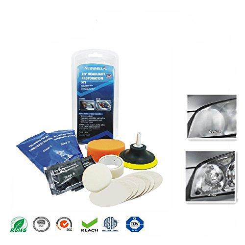 MeterMall Auto Koplamp Lens Restauratie Kit Systeem Professionele Restorer Polijsten Bescherming Tool Kit