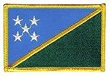 Flaggenfritze Flaggen Aufnäher Salomon Inseln Fahne Patch + gratis Aufkleber