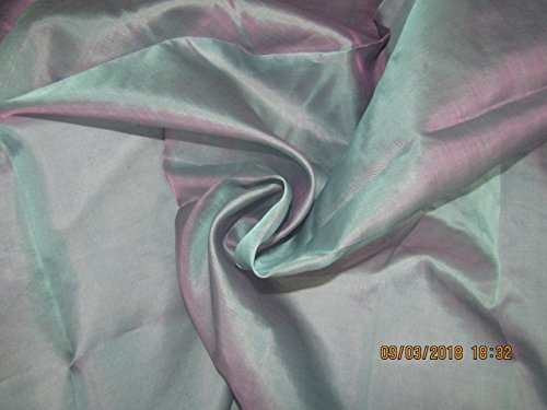Puresilks Seidenorganza-Stoff, 137,2 cm breit, Blau x Pink, 6 Stück