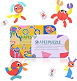 WolinTek Tangram Madera,Formas y Colores Montessori Puzzle de Madera + Diseño Tarjetas de...