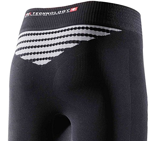 X-Bionic Lady Energizer Mk2 Uw Pants Long, Donna, Nero/Bianco, L/XL