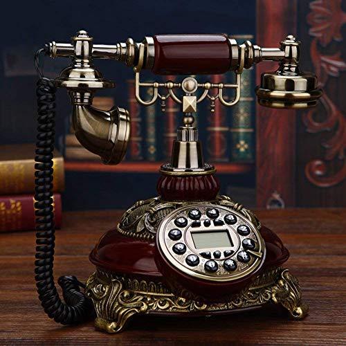 LHQ-HQ Vintage Creativa del hogar del teléfono Fijo Retro Identificador de Llamadas sólida for la decoración del hogar - Un 20x25x26cm (8x10x10 Pulgadas)