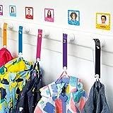 Cintas personalizadas para colgar la ropa de los niños sin coser (6 uds) Stikets®