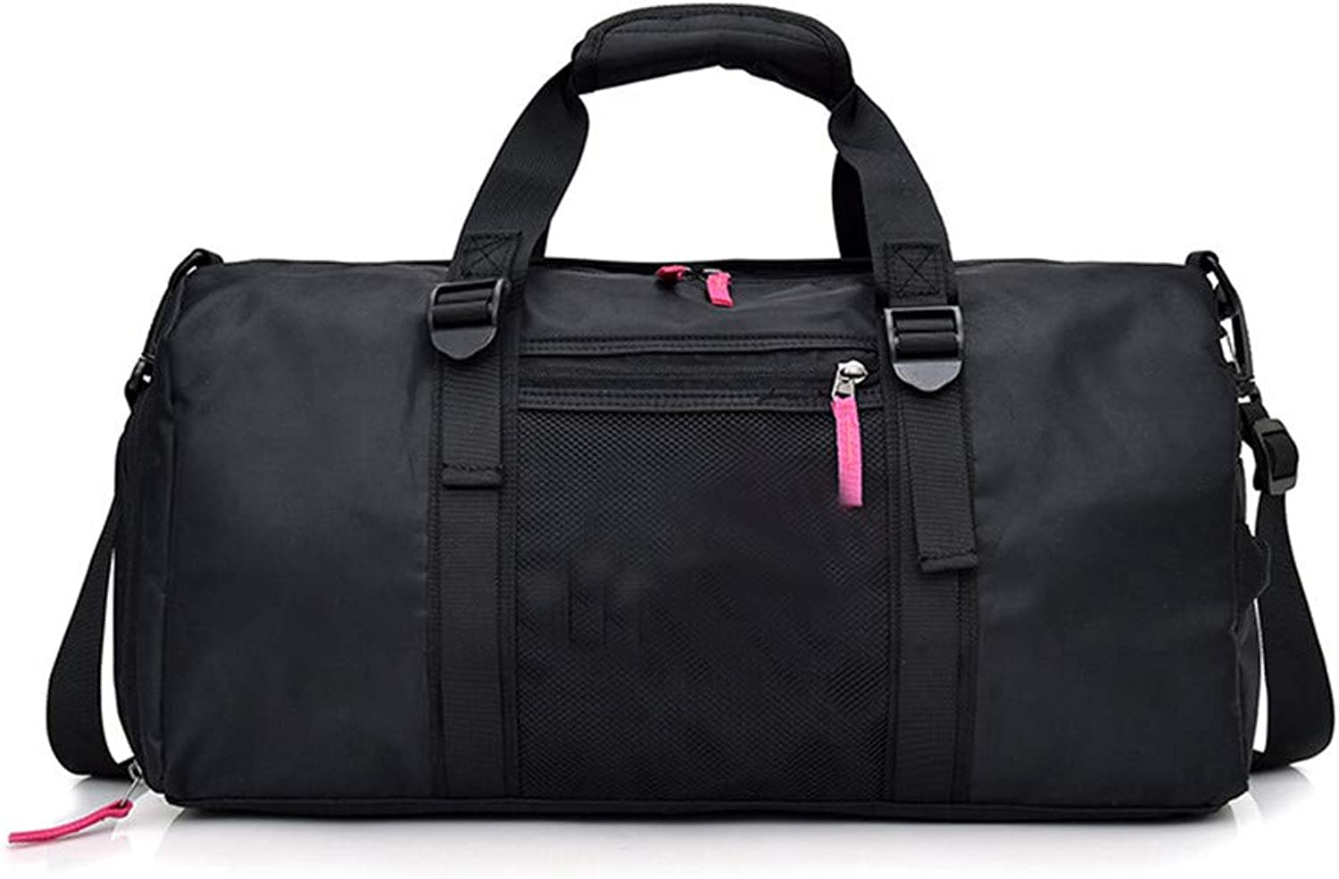 Sports Gym Bag Waterproof Sports with Sports Fitness Bag for Women and Men, Travel Fitness Bag with shoes Compartment Multiuse Travel Duffel Bag (color   Pink)