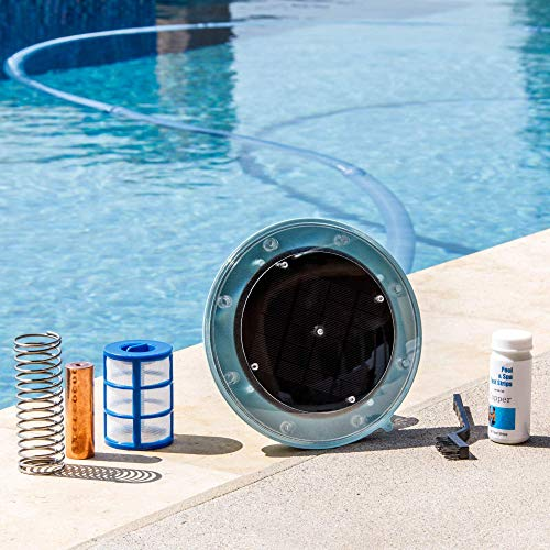 XtremepowerUS 90120 System Reduces Chlorine Algae Purifier Pool Solar Ionizer, Blue