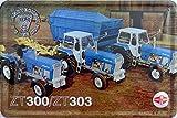 vielesguenstig-2013 Blechschild Schild 20x30cm - Fortschritt ZT 300 / ZT303 Traktor Trecker Landtechnik der DDR