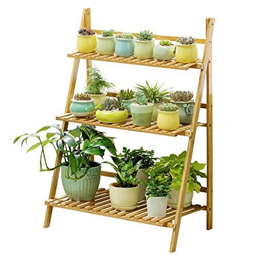 WYQ Étagère à Fleurs Présentoirs pour Plantes, Supports à Pots de Fleurs en Bois à 3 Couches, intérieur et extérieur, étagère à Fleurs à Assembler (50 cm x 40 cm x 96 cm, 70 cm x 40 cm x 96 cm)