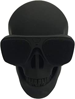 EXCEART Skull Head Speaker Portable USB Wireless Speaker Desk Ornament Compatible for Desktop PC Laptop Mobile Phone MP3 MP4 Player Black
