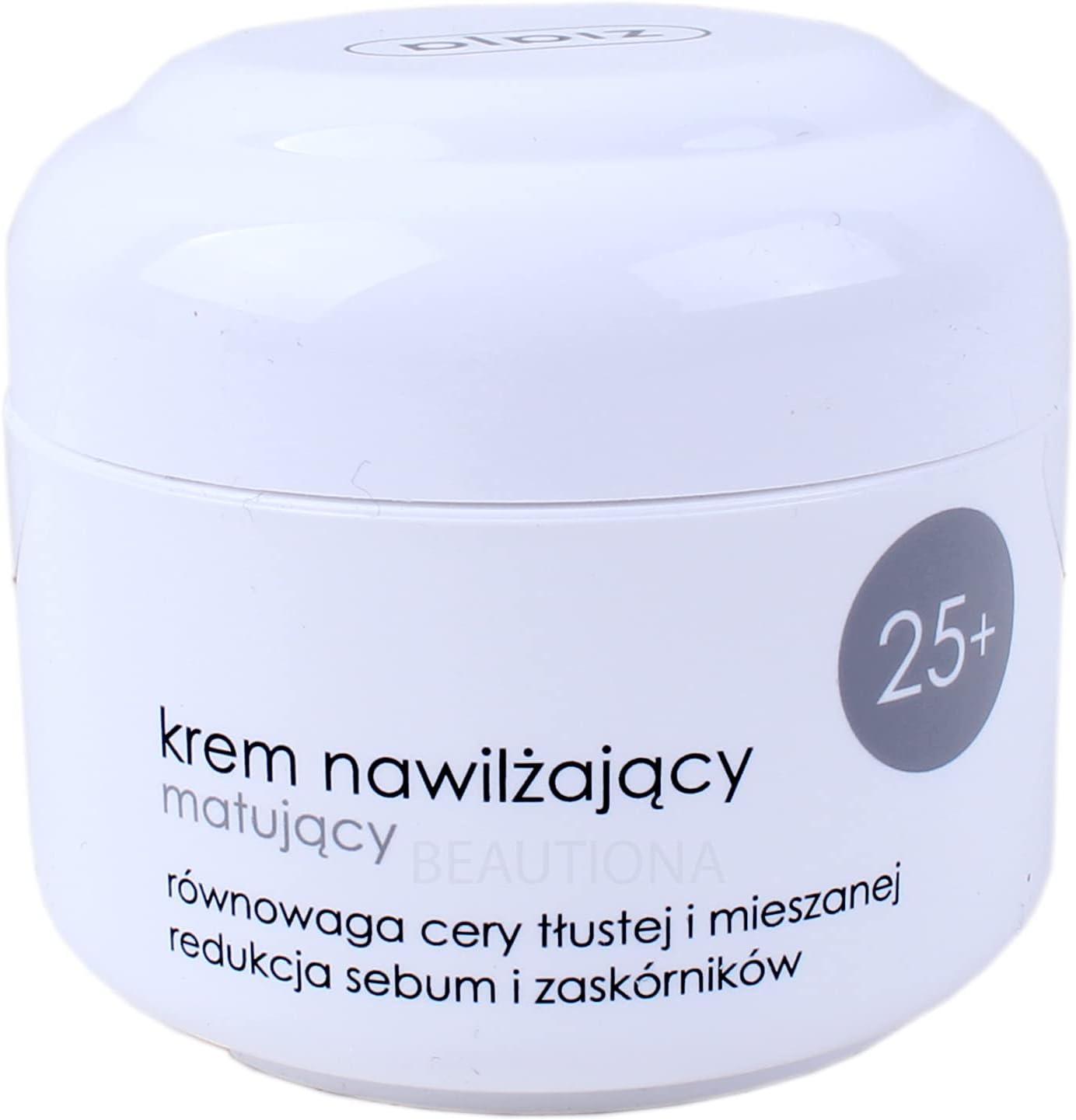 Crema facial Ziaja 25+ hidratante, mate, para piel mixta, 50 ml