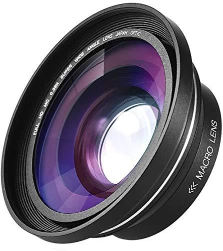 Andoer 30mm 37mm 0,39X Full HD Weitwinkel Makro Objektiv für Ordro Andoer Digitalen Videokamera Camcorder