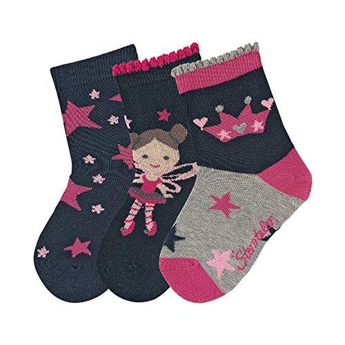 Sterntaler Unisex Baby Socken Söckchen 3er-pack Sterne, Blau (Marine), 27/30