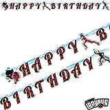 Happy-Birthday-Partykette * MIRACULOUS * als Deko für eine Mottoparty oder Kindergeburtstag // von...