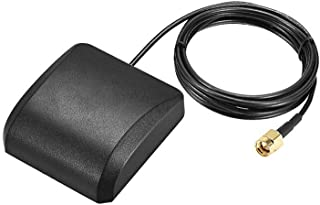 Antena activa GPS DyniLao compatible con Beidou GNSS SMA macho enchufe 42dBi cable conector aéreo con montaje magnético 3 ...