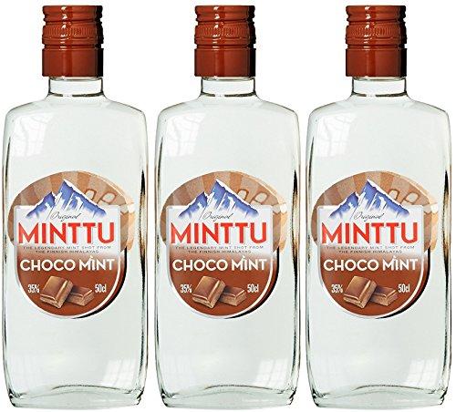 Original Minttu Choco Mint Peppermint Schoko Pfefferminz Likör (3 x 0.5 l)