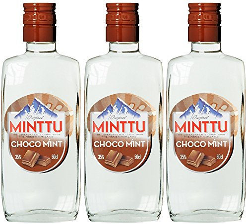 Original Minttu Choco Mint Peppermint Schoko Pfefferminz Likör (3 x 0.5 l)