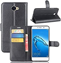 Huawei Ascend XT 2 Case,Huawei Elate 4G LTE Case,Telegaming PU Leather Protective Wallet Flip Case With Card Slots Holder Kickstand And Magnetic Closure Cover for Huawei Ascend XT2 H1711/Y7 Black