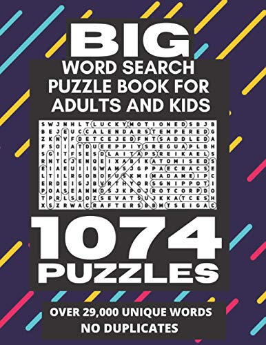 Compare Textbook Prices for Big Word Search Puzzle Book for Adults and Kids - 1074 Puzzles: Over 29,000 Unique Words No Duplicates, Worlds Largest/Biggest Word Search Book With Over 1000 Word Search Puzzles  ISBN 9798560682590 by Publishing, VisCulture