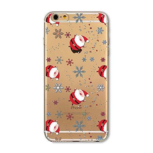 BoomTeck iPhone 7 Plus/8 Plus Cover Silicone AntiGraffio Trasparente Slim TPU Case Natale