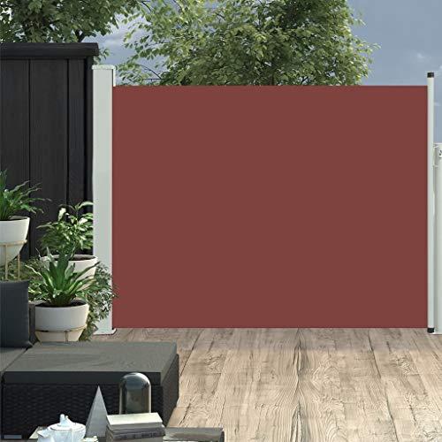vidaXL Seitenmarkise Ausziehbar Sonnenschutz Sichtschutz Windschutz Seitenrollo Markise Seitenwandmarkise Balkon Garten Terrasse 170x500cm Braun