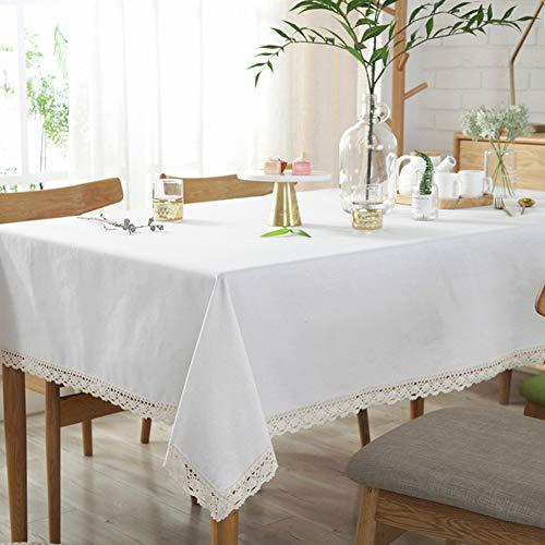 Sandweek Mantel clásico de algodón y Lino, Lavable, a Prueba de Polvo, para Mesa de Buffet, Fiestas, cenas de Vacaciones, Bodas y más