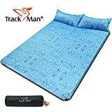 Track Man Double 2 Person Self Inflating Camping Sleeping Mat/pad, Water Repellent Coating, with Attached Inflatable Pillow, for Camping, Hiking, Backpacking