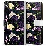 DeinDesign Étui Compatible avec Sony Xperia Z2 Étui Folio Étui magnétique Été Jardin Floraison