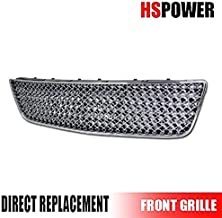 HS Power Chrome Front Grill 2006-2009 for Chevy Impala | Sport Mesh Lower Bumper Grille Cover ABS