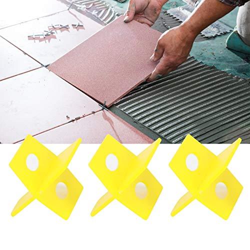 Herramienta de nivelación de baldosas, nivelador de baldosas, pared de piso amarilla para baldosas de azulejos para suministro de construcción