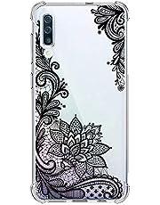 Suhctup Funda Compatible con Samsung Galaxy Note 10 Pro Carcasa Transparente,Dibujo Diseño Flor [Protección Caídas] Ultra-Delgado Flexible Silicona TPU Estuche Cover para Galaxy Note 10 Pro,Mandala 4