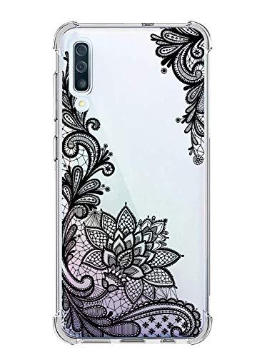 Suhctup Funda Compatible con Samsung Galaxy A20E Carcasa Transparente,Dibujo Diseño Flor [Protección Caídas] Ultra-Delgado Flexible Silicona TPU Estuche Cover para Galaxy A20E,Mandala 4