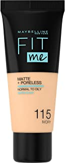 Maybelline New York Fit Me Matte and Poreless Foundation 115 Ivory