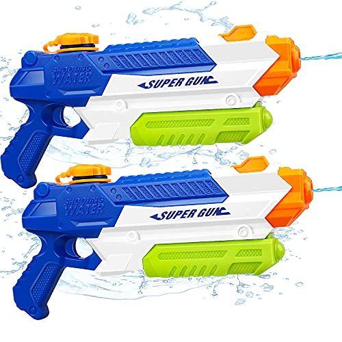Toy Life 2 Pack Water Guns for Kids or Adults- Super Soaker Water Guns- Water Blaster Squirt Guns- Outdoor Toys for Boys, Girls- Pool Water Guns Beach Toy Summer Toy for Toddlers, Kids, Adults