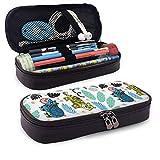 Étui à crayons grande capacité stylo pochette sac en cuir durable étudiants papeterie boîte organisateur pour école bureau Jungle pépinière animaux