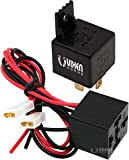 Vixen Horns 4-PIN Relay 40A/12V with Pre-Wired Plug/Socket for Horns/Compressors/Alarms/Fog Light VXA7901