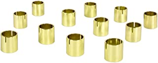 Koyal Wholesale Modern Metal Geometric Cylinder Wedding Place Card Holders, Set of 12 Gold Table Number Holders for Wedding, Bridal Shower, Rehearsal Dinner, Thanksgiving, Christmas, Home Decor