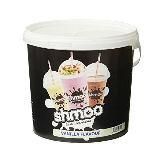 Vanille Shmoo Milchshake-Mix, 1,8kg Wanne mit gratis Tassen, Deckel & Strohhalme, Large Cup Pack