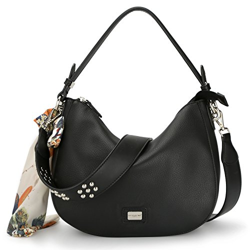 David Jones - Borsa a Tracolla Luna Bag Donna - Borse Spalla PU Pelle...